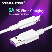 VOXLINK USB Typ C 5A Schnelle Lade usb c kabel Typ-c daten Kabel Ladegerät usb-c Für samsung S8 S9 Hinweis 9 8 Xiaomi mi8 Huawei P30