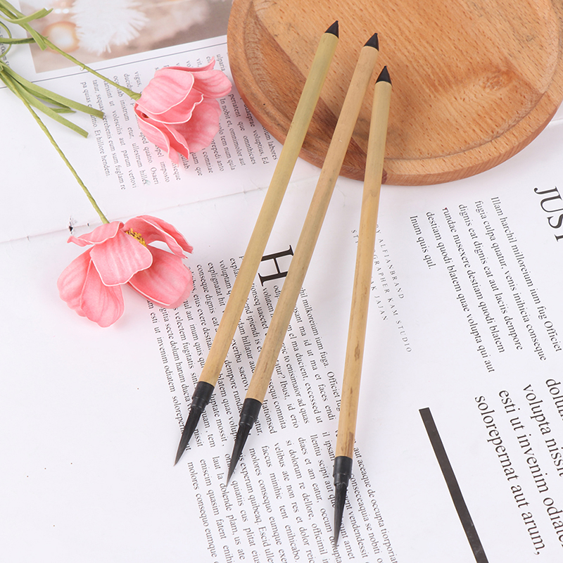 1Pcs Bamboo Pole Ultra-thin Line Nail Art Liner Brush Drawing Painting Pen Manicure DIY Tool