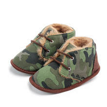 New 2019 Toddler Infant Baby Boys Shoes For Girls Non-Slip Keep Warm Boots Casual Leopard First Walkers Lace-up Shoes