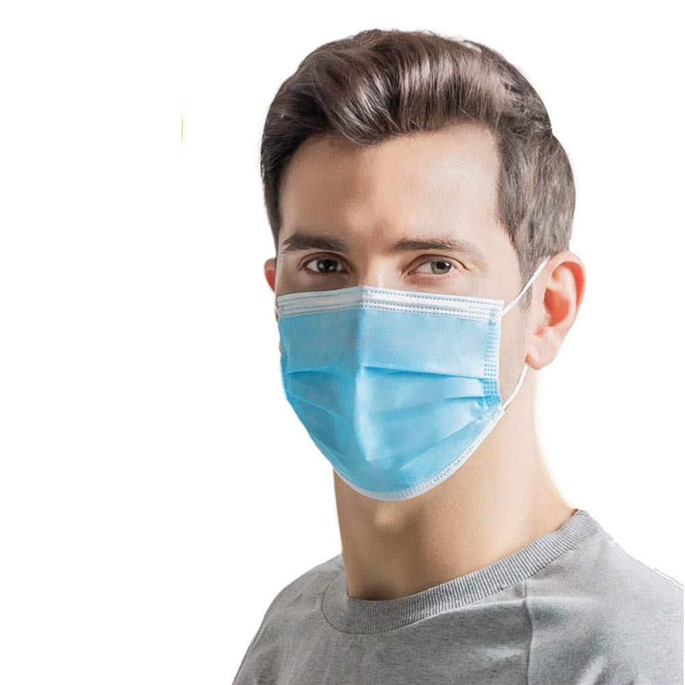 40 Pcs Disposable Mask Dust-proof Nonwove 3 Layer Ply Filter Mouth Face Mask PM2.5 Meltblown Anti-viruses Mouth Masks