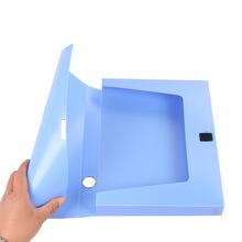 Pudełko na dokumenty artykuły biurowe 85c plastikowe pudełko na dokumenty A4 pudełko na dokumenty przechowywanie danych 3 cale o dużej pojemności tanie tanio Dokument tace