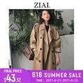 ZIAI 2020 hotsale frauen frühling lange licht graben mantel warme revers weibliche windjacke langarm dame casual lager ZS-7246