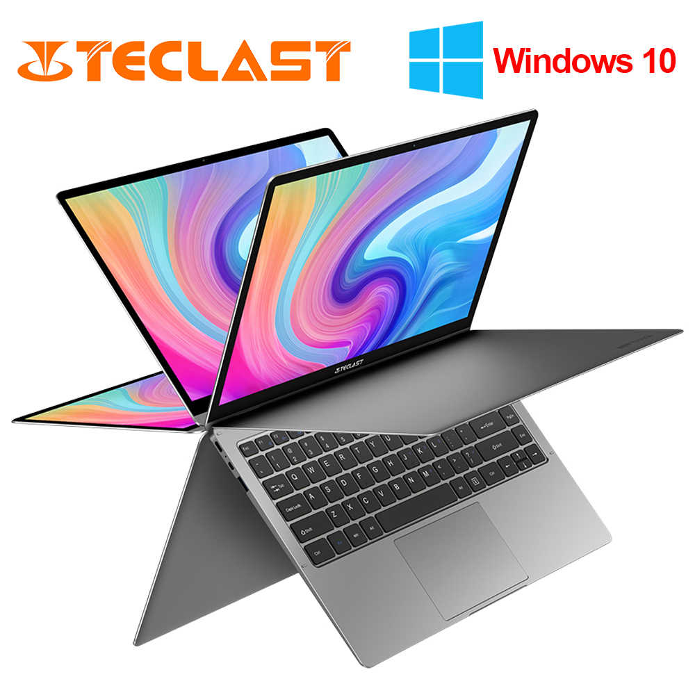 Teclast F6 Plus 360° Laptop 13.3 inch Notebook Windows 10 OS 8GB LPDDR4 256GB SSD 1920*1080 IPS Intel N4100 touch screen laptop