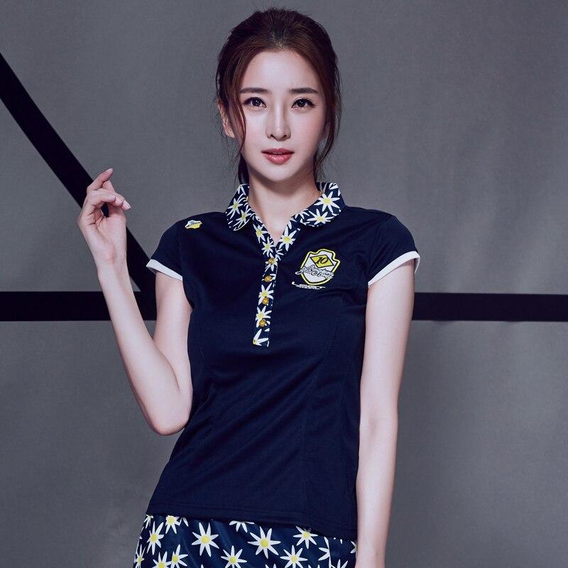 Été nouveau col authentique gagner Badminton porter des femmes à manches courtes T-shirt à séchage rapide Slim mode sport chemise