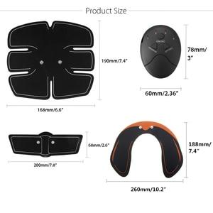 Image 5 - 15 개/대 EMS 근육 복부 트레이너 스마트 무선 근육 ABS 엉덩이 복부 근육 자극기 마사지 세트 체중 감소
