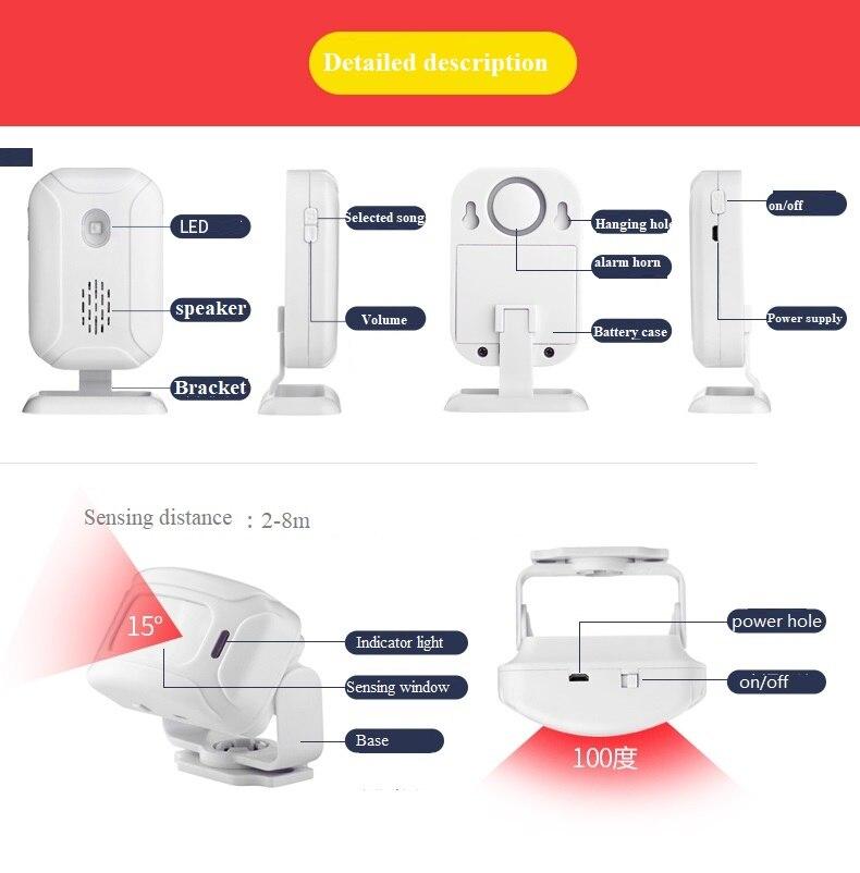infravermelho sensor de movimento alarme 280 m 03