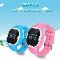 GPT18 Silicone Strap High Accuracy Waterproof Smart Watch GPS Tracker For elder Kids With WIFI LBS Positioning SOS Geo fence