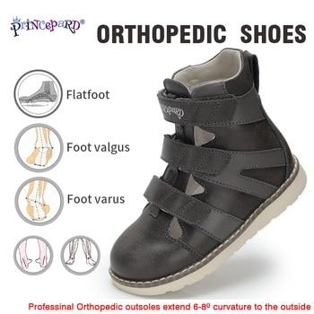 Princepard Toddler Boys Sandals Orthopedic Kids Shoes Children Apring Summer Orthopedic Shoes Leather Sandals For Kids