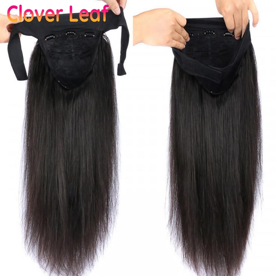 Headband Wigs Remy Headband Wig Human Hair Brazilian Straight Human Hair Wigs Affordable 150% Glueless Scarf Wig For Black Women