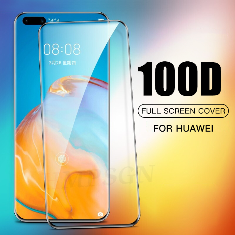 100D Full Cover Tempered <font><b>Glass</b></font> For <font><b>Huawei</b></font> P40 <font><b>Pro</b></font> P40 Lite Screen Protector <font><b>Glass</b></font> For <font><b>Huawei</b></font> P30 <font><b>Pro</b></font> Lite <font><b>Mate</b></font> <font><b>20</b></font> 30 <font><b>Pro</b></font> <font><b>Glass</b></font> image