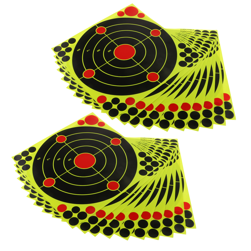 20pcs Stick & Splatter Reactive Self Adhesive Shooting Targets Stickers