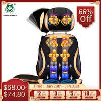 Jinkairui vibrando elétrica cervical pescoço volta almofada do corpo massagem cadeira estimulador muscular com dispositivo de aquecimento