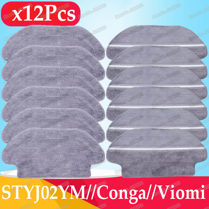 Wet-Dry Mop Cloth Pad Accessories Compatible With XiaoMi Mijia STYJ02YM Viomi V2 PRO V-RVCLM21B Robot Vacuum Cleaner Parts