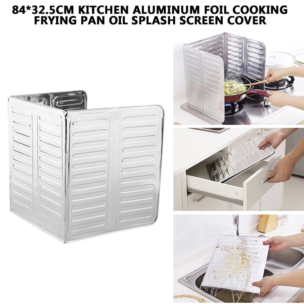 1Pc Kitchen Cooking Frying Pan Oil Splash Screen Cover Anti Splatter Shield Guard Dinner Helper