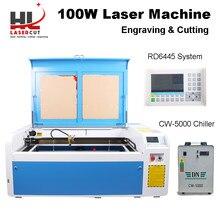 HL 100W CO2 Laser Cutter 80W Laser Engraver Machine with RUIDA 6445 Autofocus 1000x600mm