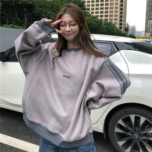 Hoodies Womens Thick Plus Velvet Student Style Streetwear Harajuku Stylish Leisure Chic Trendy Popular Women Sweatshirt Kpop New
