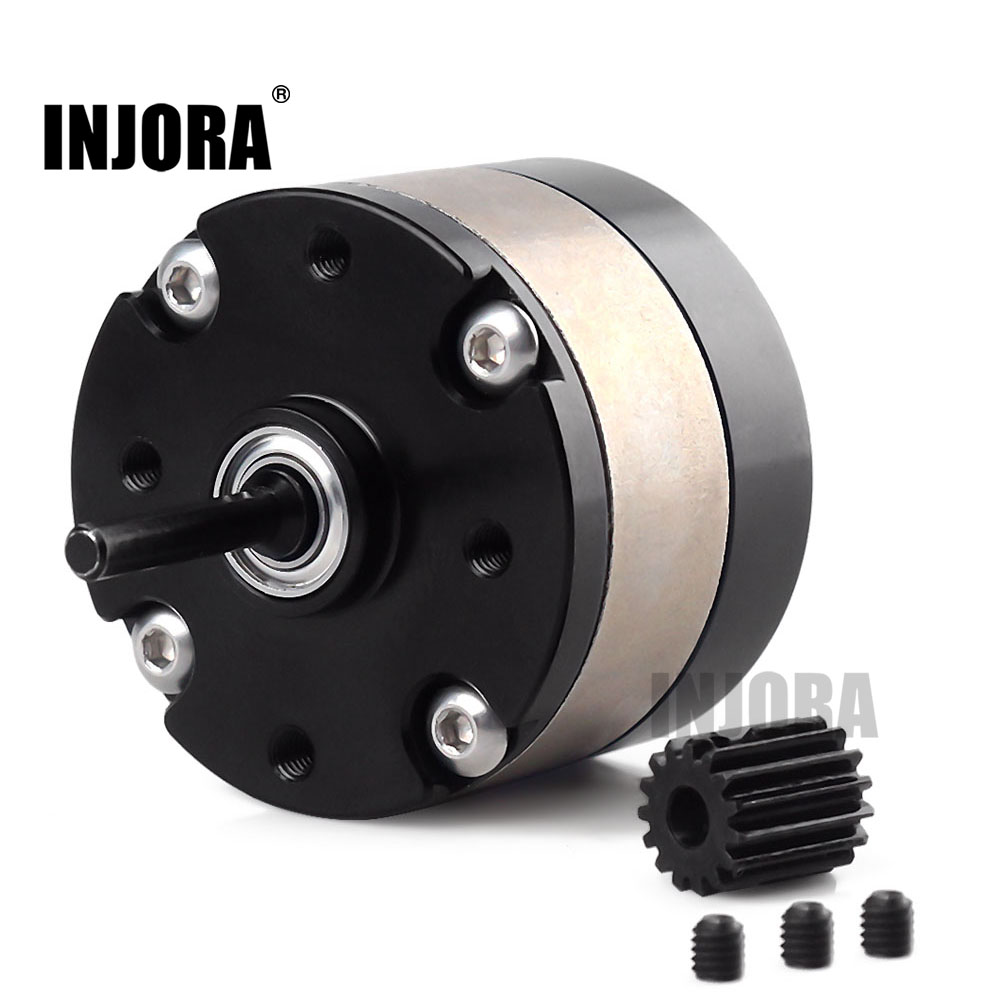 INJORA Metal 1:3 Ratio Reducer Planetary Gearbox Transmission Box For 1/10 RC Crawler Car Axial SCX10 RC Car Motor Parts