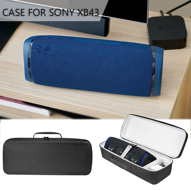 Square Shockproof Hard Cover Protective Case Bag for  Sony SRS XB43 Extra BASS Wireless Bluetooth Speaker and Accessory