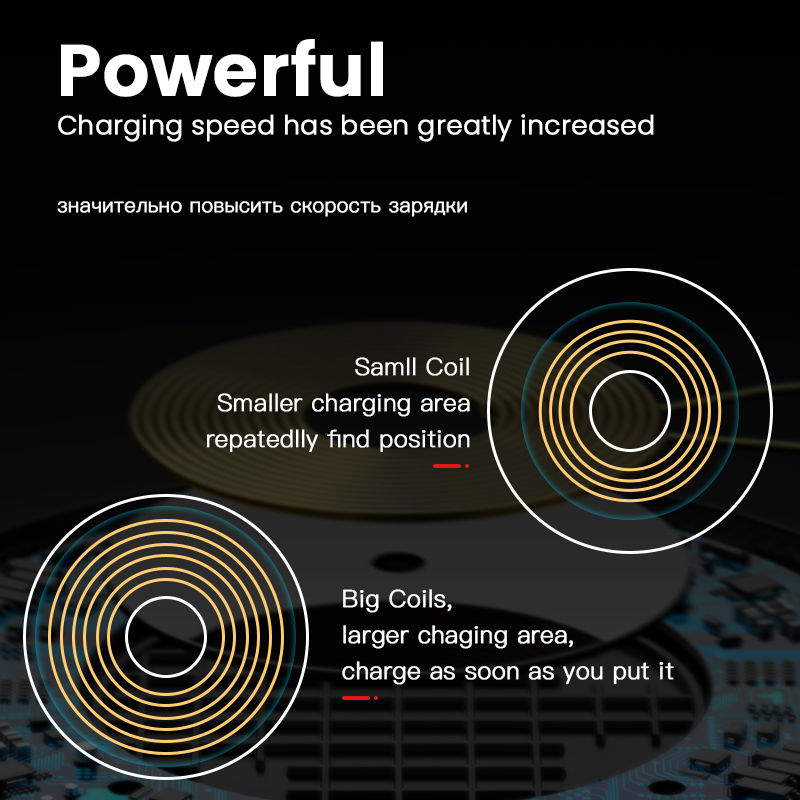 Image 4 - iONCT 10W Fast Wireless Charger for iPhone 11 pro X XR XS wirless Charging for Samsung phone USB qi charger wireless leather pad