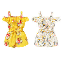 baby girl clothes newborn toddler baby girls rompers lace floral overall outfits sunsuit clothes 2020 New Toddler Kids Baby Girl Floral Rompers Summer Clothes Strap Jumpsuit Sleeveless Playsuit Outfits Sunsuit Overalls 1-4T