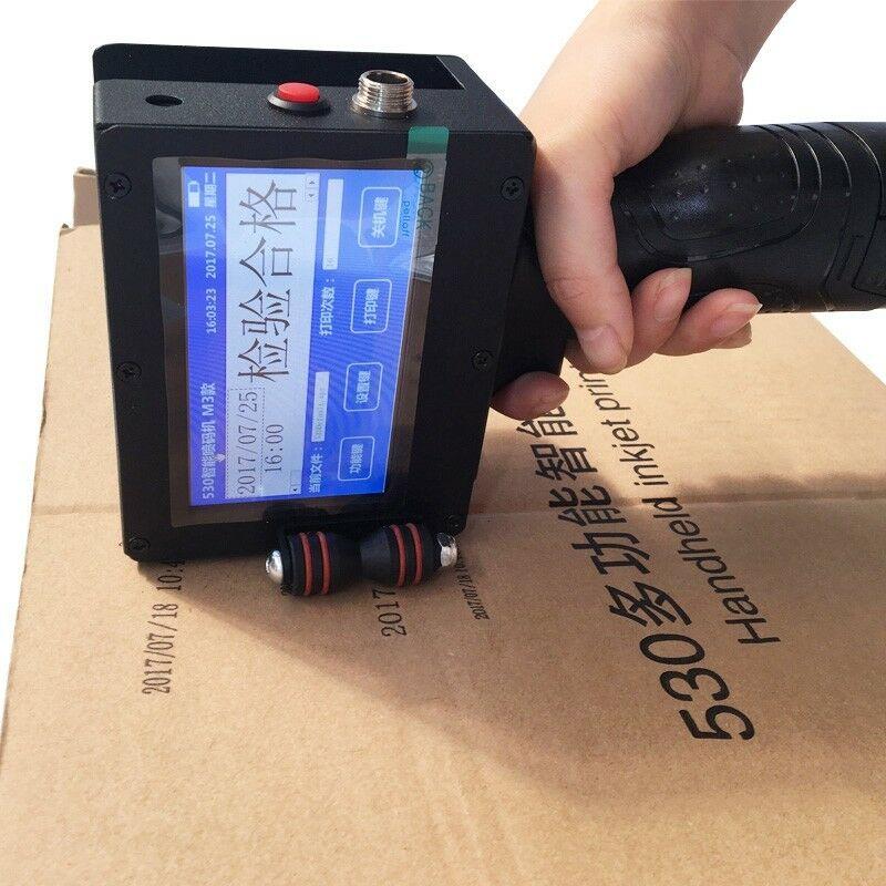 Handheld Smart Date Coder Inkjet Printer Ink Coding machine LED Screen with Cartridges