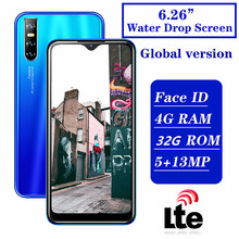4G Ram Goedkope Android Mobiele Telefoons F3 Lte 32G Rom Smartphones 6 26Inch Celular 13MP Mobiele Telefoon Unlocked 2SIM Wifi Global Versie cheap NoEnName_Null Detachable Andere Cn (Oorsprong) Gezichtsherkenning 3000 Adaptieve Fast Lading english Russisch Duits French
