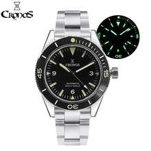 Men Watch Diver Rotating-Bezel Sandwich-Dial Cronos Sea-Master Water-Resistant Automatic