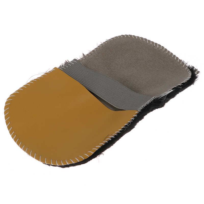 לטש ניקוי מנקה כפפת מברשת נעל טיפול נעל נעליים מנקה מברשת רך פו צמר בד נעליים