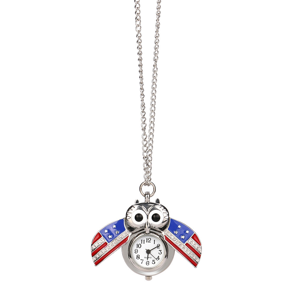 Hf0b2c755814f48dfa206718e36615295j - Pocket Watch Vintage Style Retro Slide Owl Pendant Long Necklace Analog Pocket Watch Gift Bundy Party Watch gift