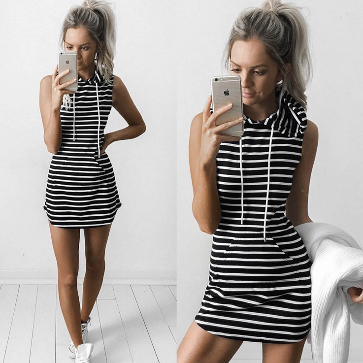 Hf0b2da40ee2b4486aa07cb43010bc788n - Hooded Sweatshirt Dress O-neck Sexy Elegant Women Party Dresses Fashion Bodycon Short Dress Package Hips Slim Summer Female
