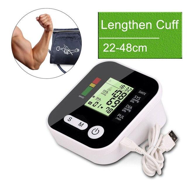 זרוע לחץ דם צג tonometer ציוד רפואי למדידת לחץ LCD צג פעימות לב מד מכונת
