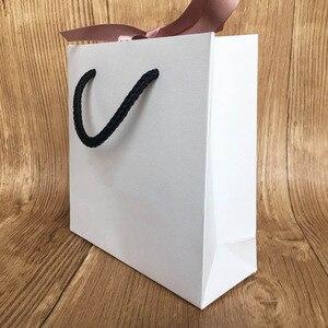 Модный бумажный пакет для браслета и ожерелья, набор коробок для женщин, оригинальная Европейская Ювелирная подвеска из бисера, розовая лен...