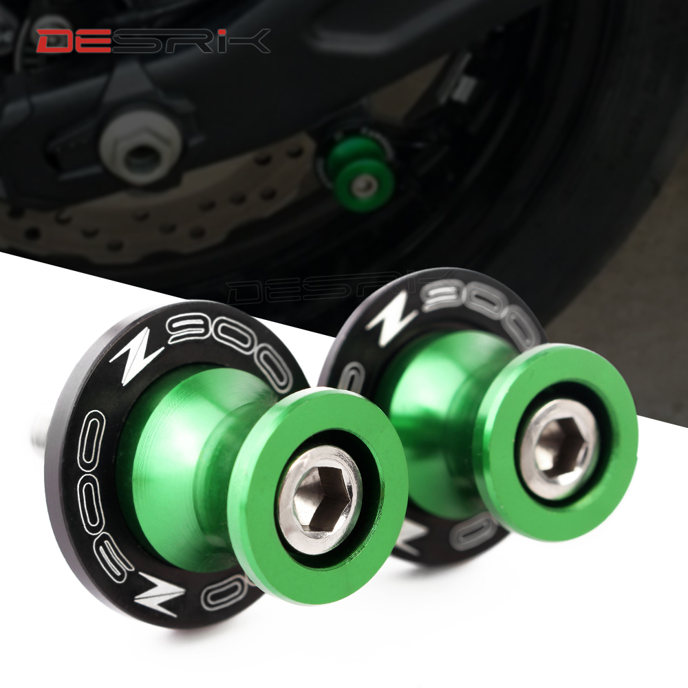 8mm CNC Swingarm spool Sliders Green Titanium Black Gold Colors For <font><b>KAWASAKI</b></font> Z900 <font><b>z</b></font> <font><b>900</b></font> <font><b>2017</b></font> 2018 2019 image