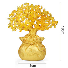 Chinese Fortune Tree Wealth Home Office Decoration Ornament Gifts New Wine Cabinet Crafts