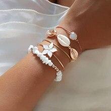 Tocona pulseira boêmia irregular feminina, ajuste ajustável ouro aberto em camadas bracelete joias 9256