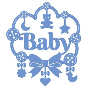 InLoveArts Baby Letter Dies Moon Star Bear Toy Metal Cutting Dies for Card Making Scrapbooking Embossing Cuts Stencil Kid Craft(China)