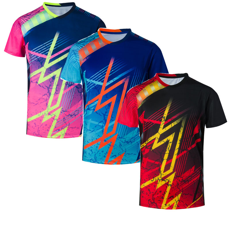 New Badminton Shirts Men Or Women, Table Tennis Shirt , Running Team Exercise Training Sport Short Sleeve T-shirt 1820