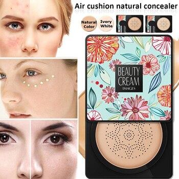 BB Air Cushion Moisturizing Foundation Mushroom Head CC Cream Concealer Whitening Oil-control Brighten Face Base Makeup Cosmetic 1
