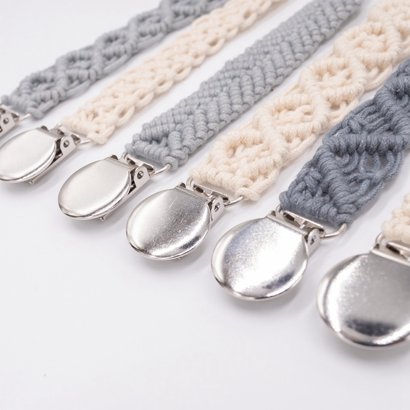 Dropshipping Baby Pacifier Clips Infant Kids Cotton Crochet Appease Pacifier Newborn Teething Soother Chew Dummy Chain Handmade