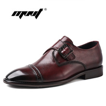 Natural Leather Men Dress Shoes Handmade Office Business Wedding Hand-polished Pointed Toe Oxfords