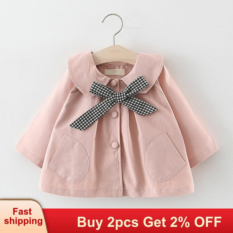 Mayfair Cabin Newborn Baby Girl Clothes 2020 Autumn Bow Coat Infant Clothes For Children  Baby Girls Fashion Clothing Baby Coats