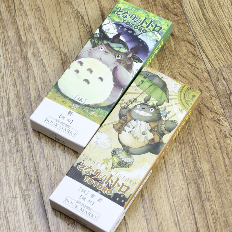 32 Pcs Cartoon Totoro Bookmark Anime Paper Page Holder Memo Card Stationery Office School Supplies Marcador De Livro EC392