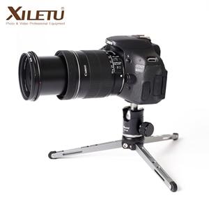 Image 1 - XILETU MT26 + XT15 Hohe Lager Desktop Halterung Mini Tabletop Stativ und Kugelkopf Für DSLR Kamera Spiegellose Kamera Smartphone