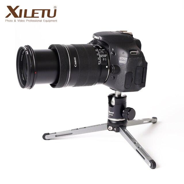 XILETU MT26 + XT15 Hohe Lager Desktop Halterung Mini Tabletop Stativ und Kugelkopf Für DSLR Kamera Spiegellose Kamera Smartphone