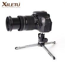 XILETU MT26 + XT15 גבוהה נושאות שולחן עבודה סוגר מיני חצובה שולחן כדור ראש עבור DSLR מצלמה ראי מצלמה Smartphone