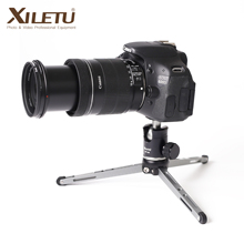 XILETU Mini trípode de mesa y cabezal de bola para cámara DSLR, soporte de escritorio de alto rodamiento, + XT15 MT26, sin espejo