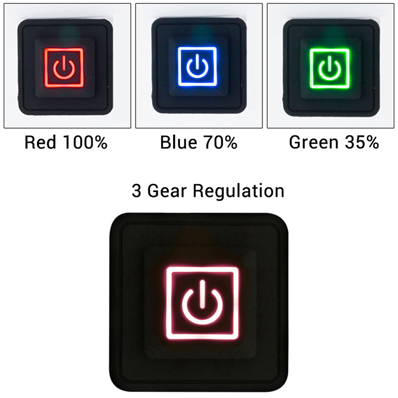 3.7~12V Heated Vest Pants Gloves Electirc Heating Waistband DIY Temperature Controller Rheostat Switch Silicone Button Switch
