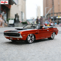Maisto 1:24 1970 Dodge Challenger Convertible alloy car model simulation car decoration collection gift toy