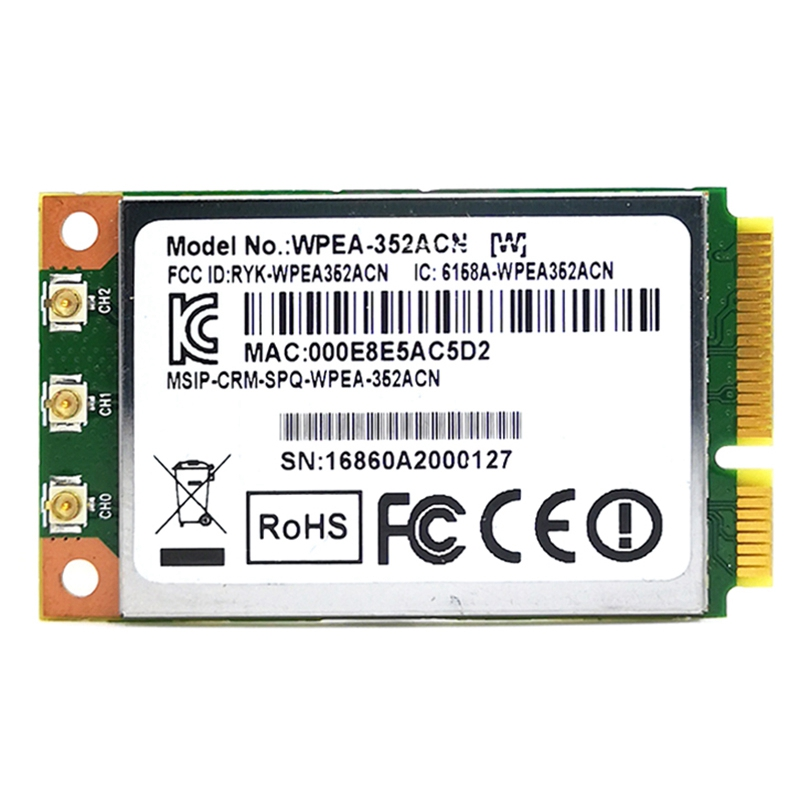 Mini PCIe <font><b>Module</b></font> QCA9880 WPEA-352ACN <font><b>802.11AC</b></font> Dual Band Wireless WiFi Network Card Support Linux image