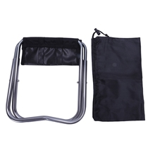 Portable Folding Aluminum Oxford Cloth Chair Outdoor Patio Fishing Camping with Carry Bag Black